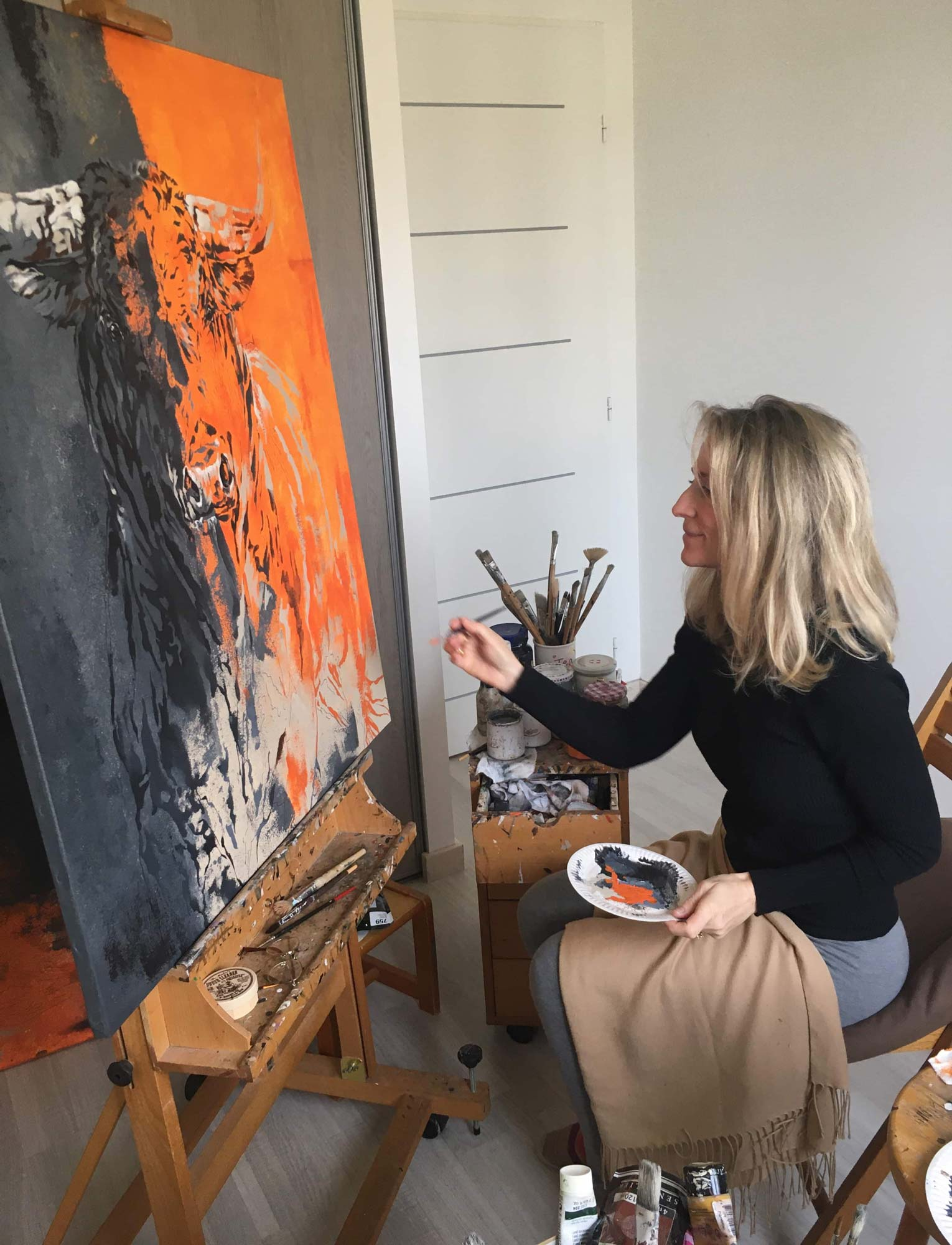Agnes B Davis atelier