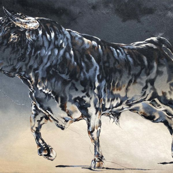 Agnès B. Davis – Taurus II – acrylique sur bâche – 89 x 146 cm