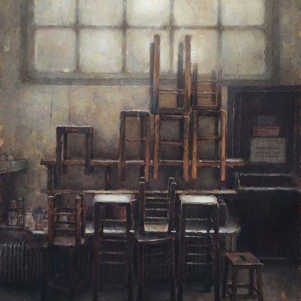 Nicolas Martin – Les Tabourets – oil on linen – 91 x 45,7 cm – 3800 €