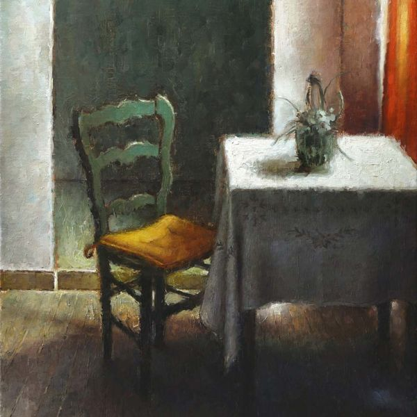 Nicolas Martin – The Invitation – oil on linen – 61 x 46 cm – 3000 €