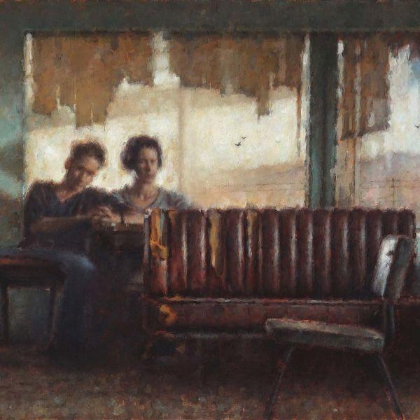 Nicolas Martin – Two Lovers – oil on canvas – 65 x 92 cm – 4500 €