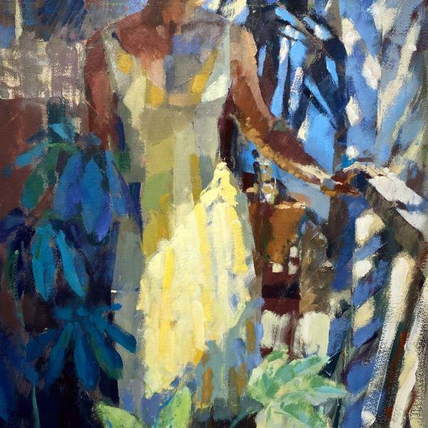 Ben Brotherton – Balcony Light – huile sur papier Fabriano sous verre antireflet – 103 x 61,5 cm – 2400 €