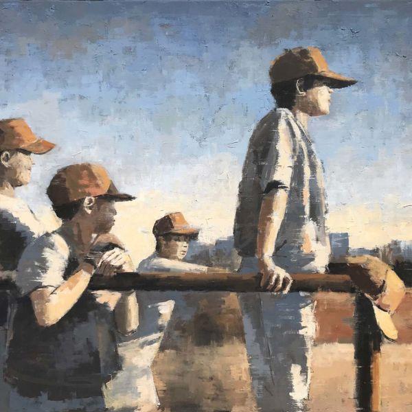 Charles Ducroux – Baseball – Chicago – huile sur toile – 80 x 100 cm – 3200 €