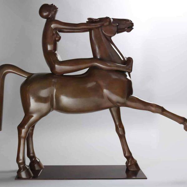 Chengdong Guo – Croyez-moi ! – Bronze 1/8 – 110 x 92 x 23 cm