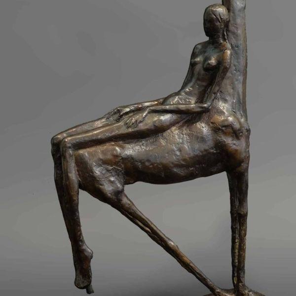 Chengdong Guo – Equilibre II – bronze 5/8 – 24 x 9 x 40 cm