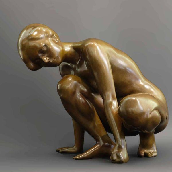 Chengdong Guo – Femme nue – bronze 1/8 – 45 x 40 x 35 cm