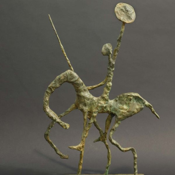 Christophe Rouleaud – Le serment de Don Quichotte – bronze 5/8 – 56 x 38 x 12 cm – 3800 €