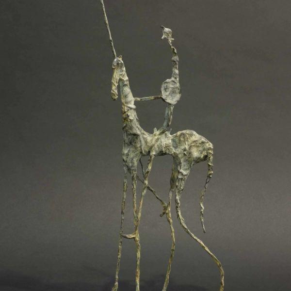 Christophe Rouleaud – Petit Quichotte I – bronze 2/8 – 44 x 18 x 6 cm – 2200 €