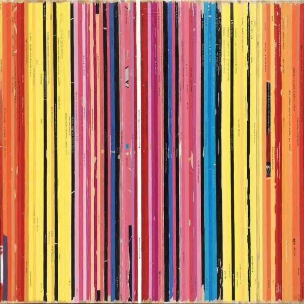 Didier Delgado – Bande son remix du Marilyn orange de Warhol – acrylique sur toile – 100 x 100 cm – 3500 €