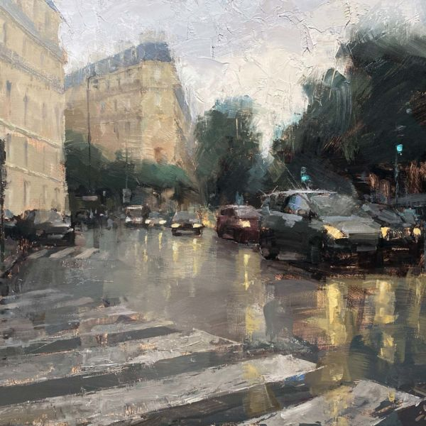Jacob Dhein – Boulevard des Batignolles – oil on panel – 45 x 60 cm – 3700 €