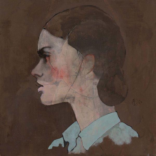 André Lundquist – A fleur de toile 1 – huile sur toile – 45 x 45 cm – 3000 €