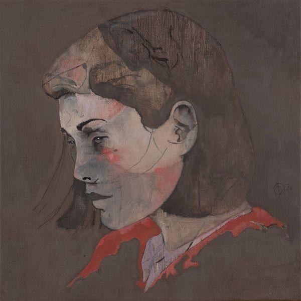 André Lundquist – A Fleur de toile 18 – huile sur toile – 40 x 40 cm – 2500 €