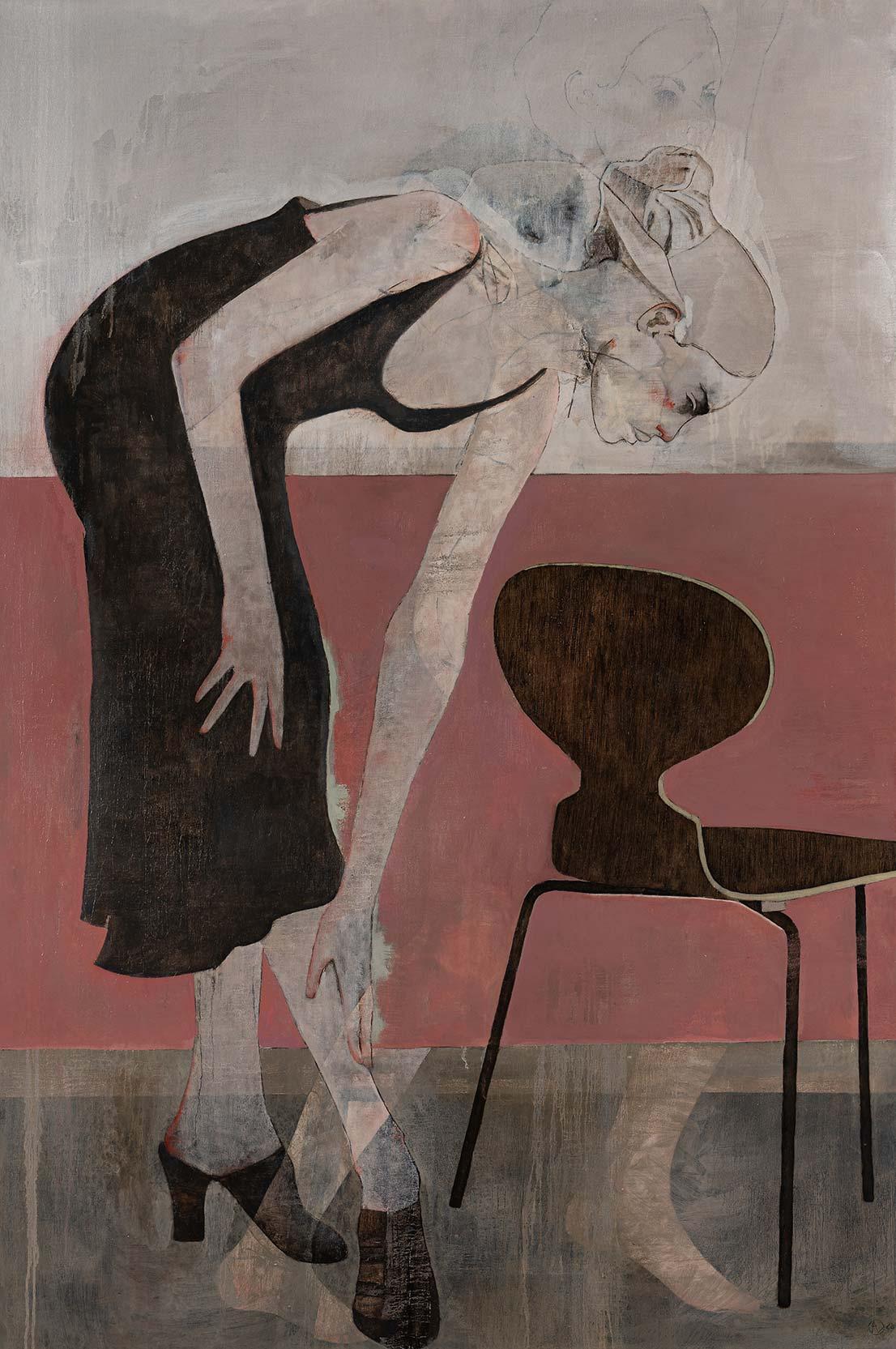 André Lundquist – A Fleur de toile 20 – huile sur toile – 180 x 120 cm – 10500 €