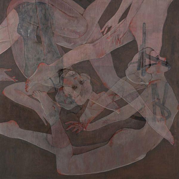 André Lundquist – A fleur de toile 3 – huile sur toile – 150 x 150 cm – 10500 €