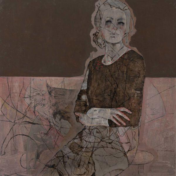 André Lundquist – A Fleur de toile 5 – huile sur toile – 100 x 100 cm – 5000 €