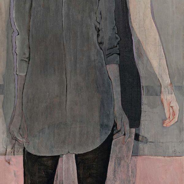 André Lundquist – A Fleur de toile 6 – huile sur toile – 200 x 80 cm – 6500 €