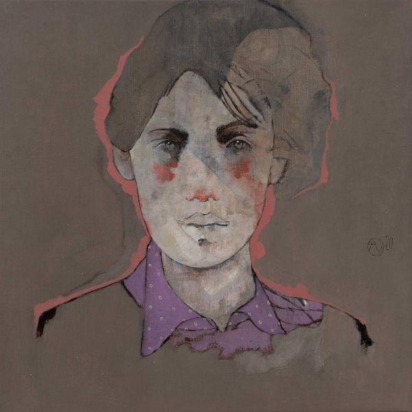 André Lundquist – A Fleur de toile 7 – huile sur toile – 45 x 45 cm – 3000 €