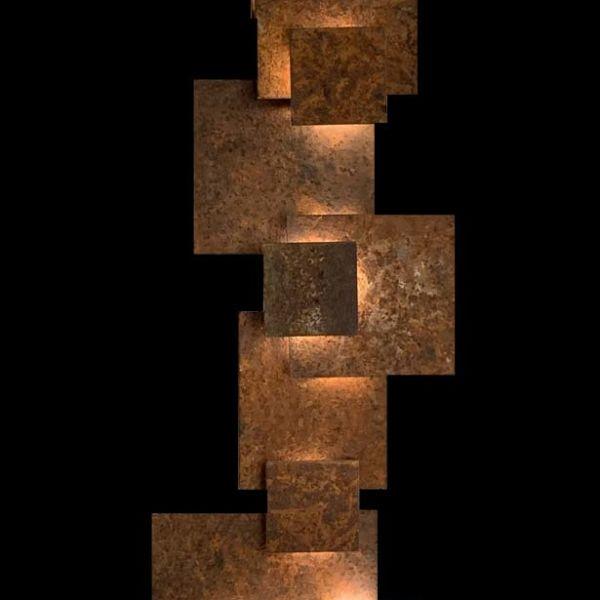 Maxime Lutun – Totem – sculpture en acier corten – série limitée à quatre exemplaires – 205 x 50 x 25 cm – 6200 €