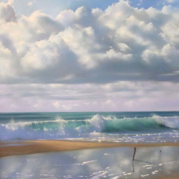 Nicole Stamatakis – Anglet, Plage des Cavaliers – pastel on paper – 64 x 51 cm – 1400 €