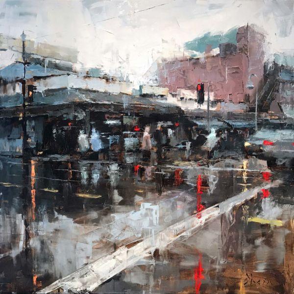Jacob Dhein – San Francisco – huile sur bois – 50 x 50 cm – 3500 €