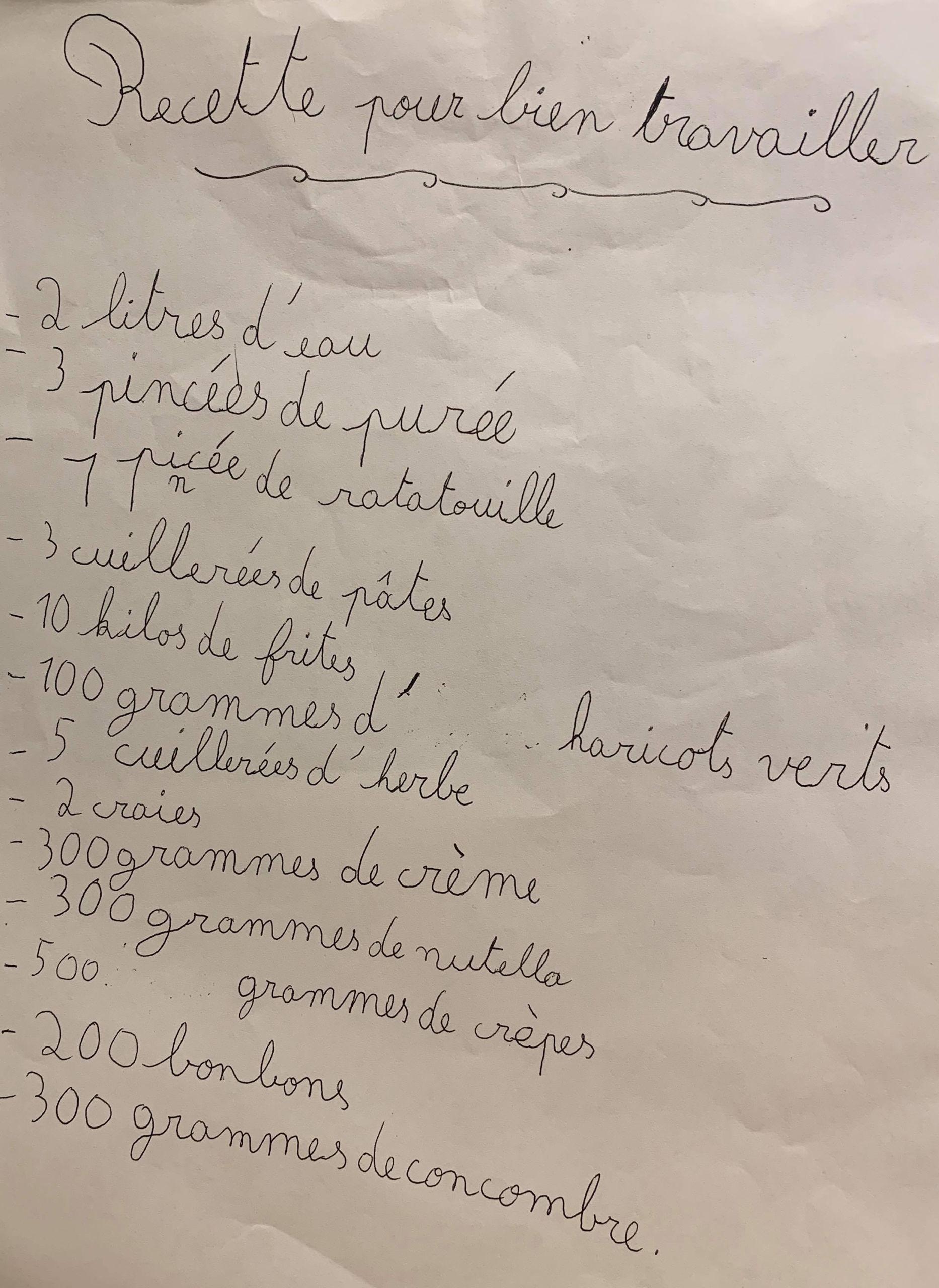 recette camille bossard