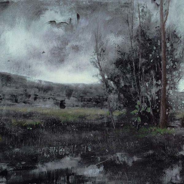 Robert Wellings – Spring Rain – oil on wood – 30 x 53 cm – sold