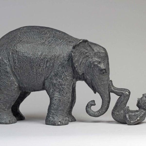 Sophie Verger – Toi et Moi – sculpture en bronze – 21 x 51 x 16 cm – 4300 €