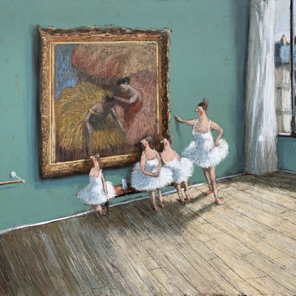 Thomas Bossard - Les danseuses - huile sur toile - 81 x 100 cm - 4200€