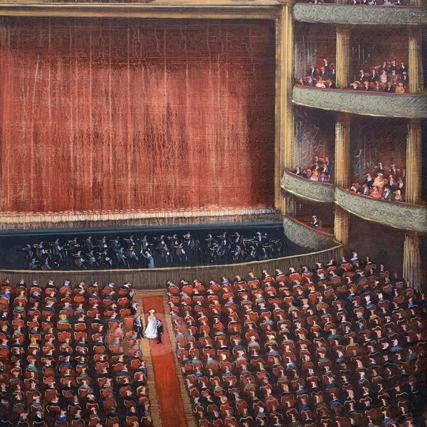 Thomas Bossard - L'Opéra - huile sur toile - 116 x 89 cm - sold
