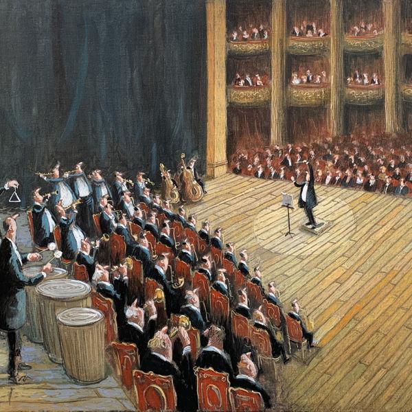 Thomas Bossard - Le concert - huile sur toile - 81 x 116 cm - sold