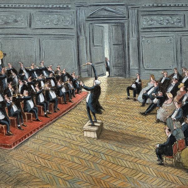 Thomas Bossard - Chef d'orchestre - huile sur toile - 81 x 116 cm - 4500€