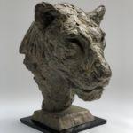 Isabelle Carabantes - Tête de lionne - bronze - 39 x 27 x 26 cm - 8900 €
