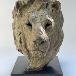 Isabelle Carabantes - Tête de lion - bronze - 52 x 34 x 37 cm - 10500 €