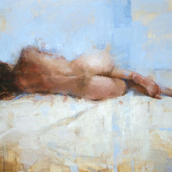 Jacob Dhein - Reclining nude - huile sur bois - 70 x 100 cm - 6200 €