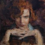 Lizaso - Le jeu de la Dame - huile sur bois - 40 x 40 cm - 3200€