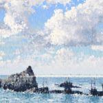 Luc Lavenseau - Le Rocher de la Vierge - huile sur toile - 73 x 116 cm - 3800 €