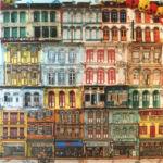 Stéphanie Despriez - Chinatown - 80 x 80 cm - technique-mixte sur toile - 2800 €