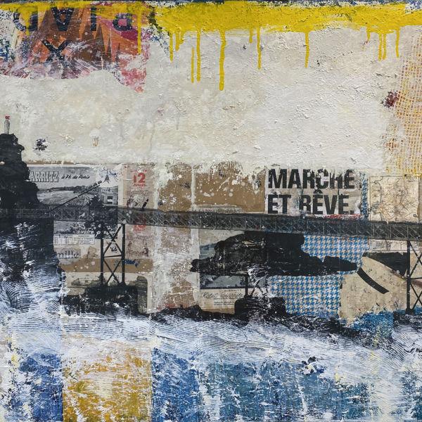 Zou - Marche et rêve - technique mixte - 81 x 130 cm - 3500 €