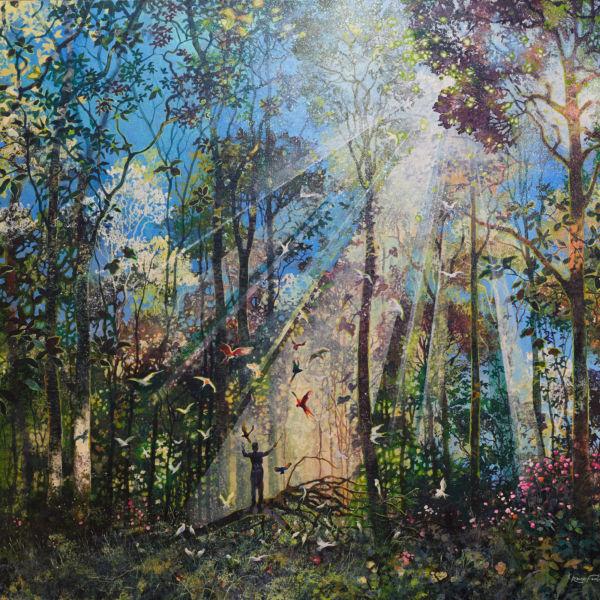 Eric Roux Fontaine - Col Canto - résine, pigments, acrylique sur toile - 114 x 146 cm