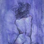 Shane Wolf - Conversions VI - fusain, sanguine, craie blanche sur papier préparé - 70 x 25 cm - 1200 €