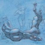 Shane Wolf - Conversions IV - fusain, sanguine, craie blanche sur papier préparé - 30 x 40 cm - 900 €