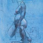Shane Wolf - Conversions II - fusain, sanguine, craie blanche sur papier préparé - 40 x 30 cm - 800 €