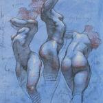 Shane Wolf - Conversions III - fusain, sanguine, craie blanche sur papier préparé - 40 x 30 cm - 1200 €