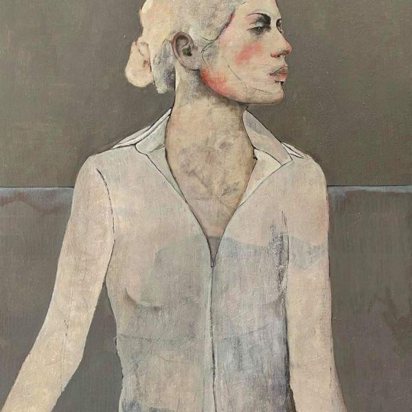 André Lundquist - Lettre en Avril x - oil on wood - 100 x 80 cm - 4200 €