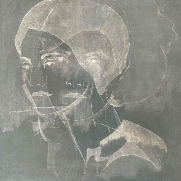 André Lundquist - Lettre en Avril VIII - oil on wood - 44 x 44 cm - 3200 €