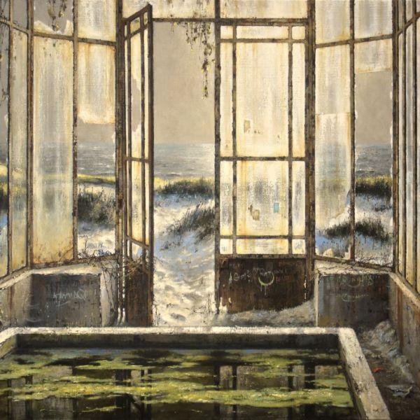 Christian Benoist - La serre des dunes - huile sur toile - 89 x 116 cm - 7500 €