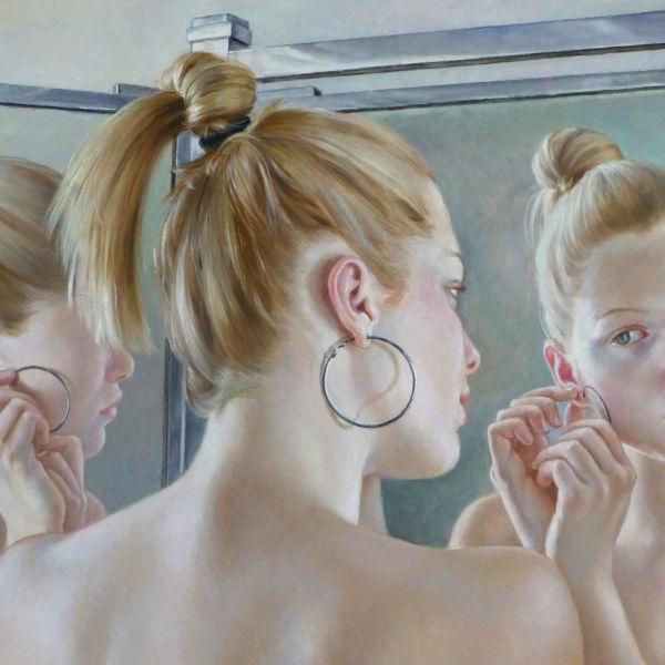 Francine Van Hove - Les Créoles - huile sur toile - 38 x 61 cm