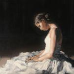 Luc Lavenseau - La danseuse - huile sur toile - 73 x 92 cm - 3000 €