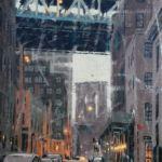 Luc Lavenseau – Brooklyn Bridge – huile sur toile – 92 x 65 cm – 2600 €