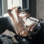 Luc Lavenseau - Le regard - huile sur toile - 100 x 81 cm - 3900 €